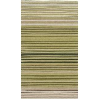 Safavieh Hand-woven Marbella Green Wool Rug (2'3 x 4')