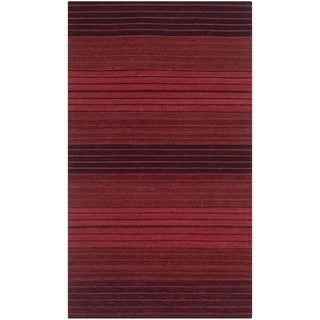 Safavieh Hand-woven Marbella Red Wool Rug (2'3 x 4')