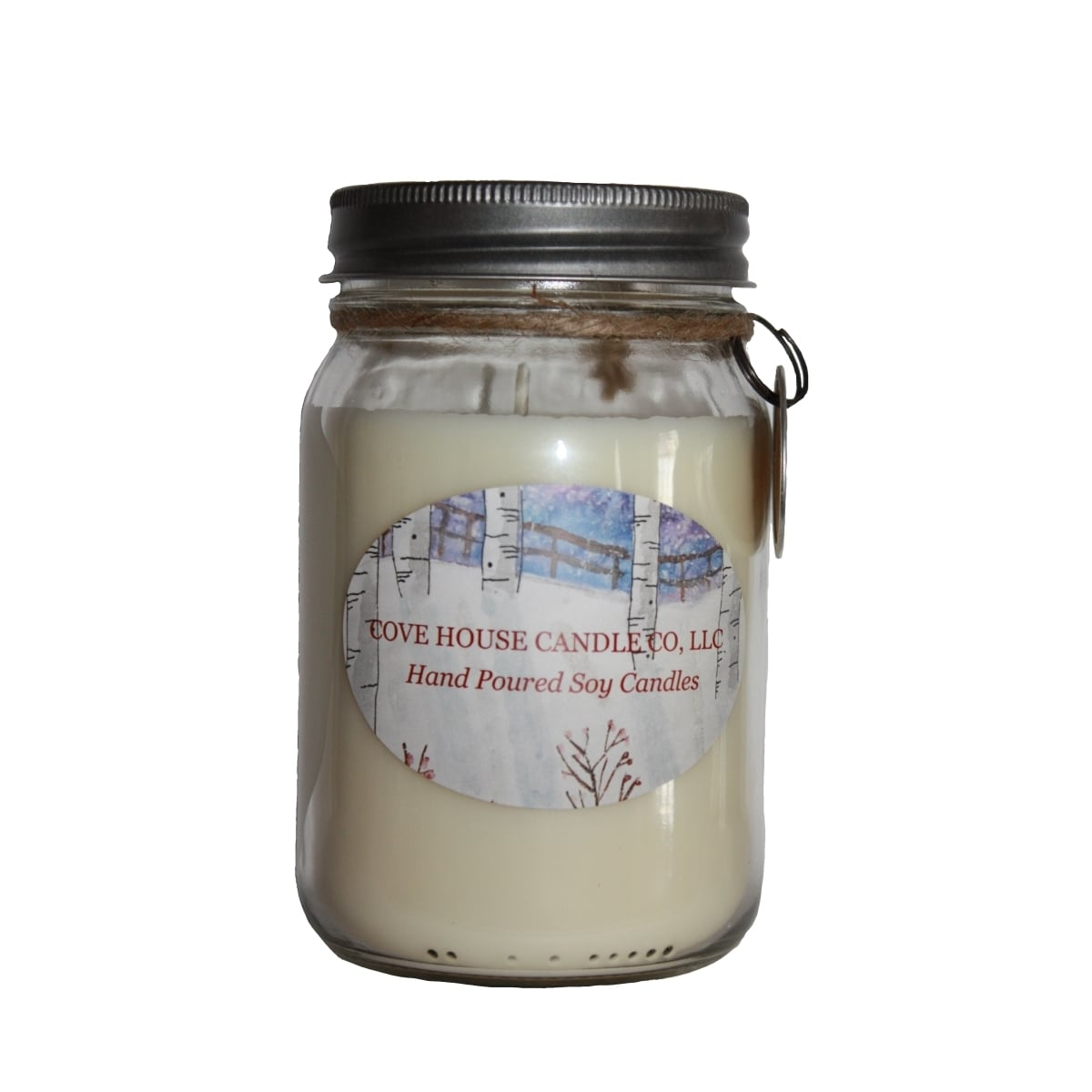 House 16 oz. Dye Free Scented Soy Canning Jar Candle (16o...