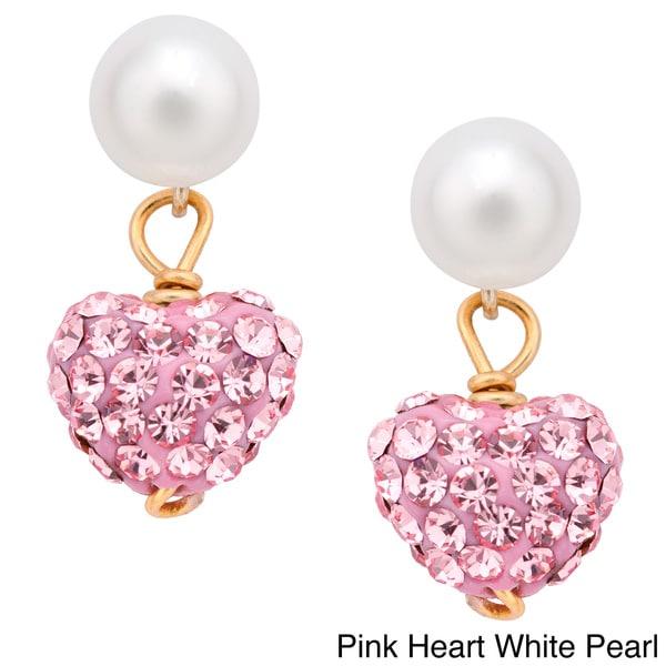 2 5 Mm Earrings: Pearlyta 14k Gold Children Freshwater Pearl Cubic Zirconia