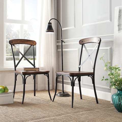 Nelson X-Cross Back Dining Chair by iNSPIRE Q Classic (Set of 2)