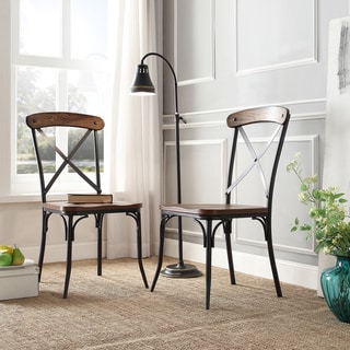 metal dining room chairs. nelson industrial modern rustic cross back dining chair by inspire q classic (set of 2 metal room chairs i