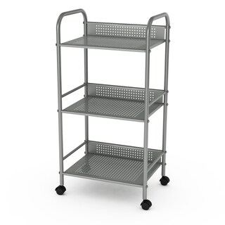 Porch & Den Mission Sycamore 3-tier Metal Rolling Cart (2 options available)