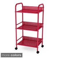 Porch & Den Mission Sycamore 3-tier Metal Rolling Cart