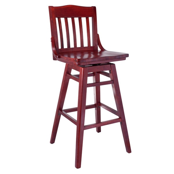 Shop Library Beech Wood Swivel Bar Stool Free Shipping