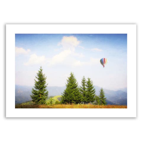 Dragos Dumitrascu 'Up High' Unwrapped Canvas Art - Multi