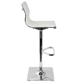 Master Adjustable Contemporary Barstool in Faux Leather