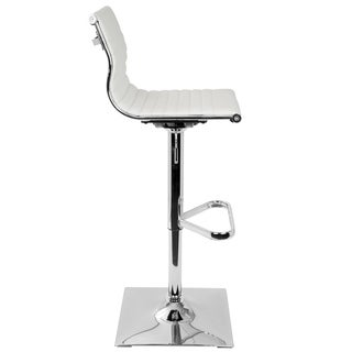 Beau Clay Alder Home Tower Master Contemporary Adjustable Bar Stool In Faux  Leather
