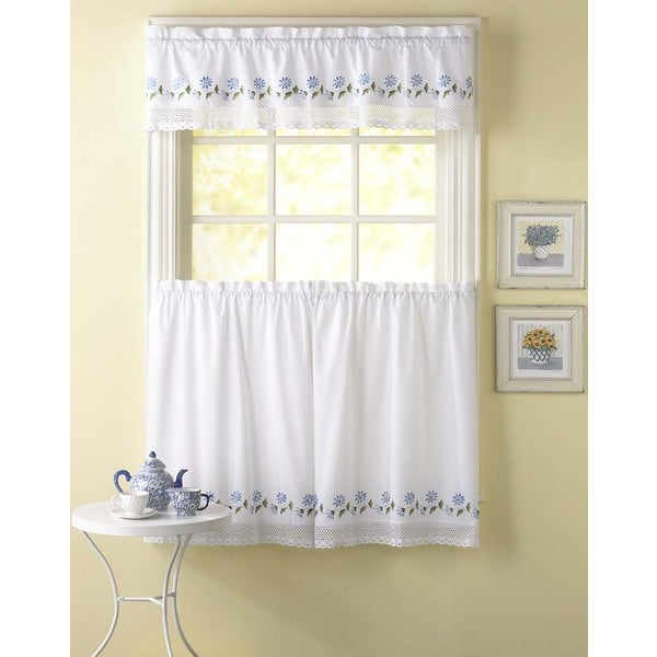 Leighton 3-piece Curtain Tier and Valance Set - Free Shipping On ...