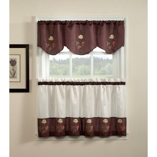 Rose 3-piece Curtain Tier and Valance Set