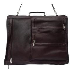Piel Leather Executive Expandable Garment Bag 9116 Chocolate Leather