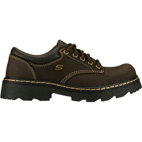 Women's Skechers Parties Mate Chocolate Scuff Resistant Leather - Free  Shipping Today - Overstock.com - 16024061