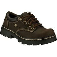 Women's Skechers Parties Mate Chocolate Scuff Resistant Leather