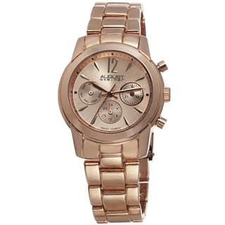 August Steiner Women's Swiss Quartz Multifunction Rose-Tone Bracelet Watch|https://ak1.ostkcdn.com/images/products/8785911/August-Steiner-Womens-Swiss-Quartz-Multifunction-Bracelet-Watch-P16024489.jpg?impolicy=medium