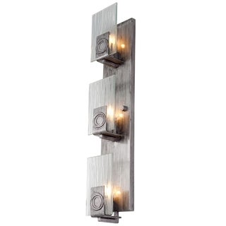 vertical bathroom vanity lights shop varaluz polar 3 light blackened silver vertical 21195