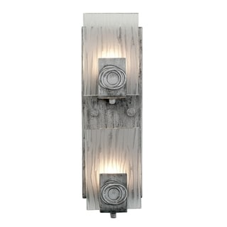 Varaluz Polar 2-light Blackened Silver Vertical Vanity Fixture