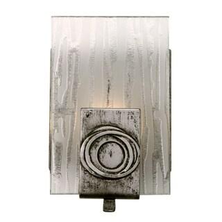 Varaluz Polar 1-light Blackened Silver Vanity Fixture