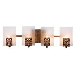 Varaluz Dreamweaver 4-light Blackened Copper Vanity Fixture