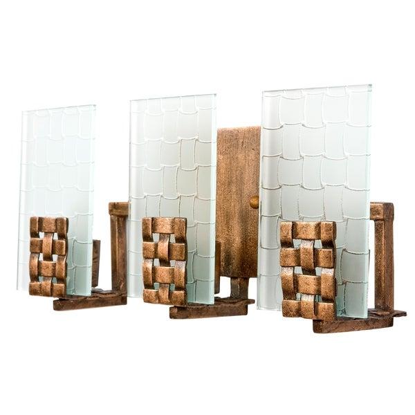 Varaluz dreamweaver 3 light blackened copper vanity fixture free shipping today overstock for Copper bathroom light fixtures