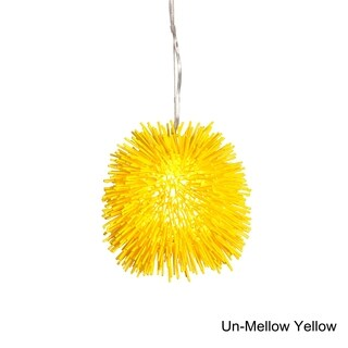Varaluz Urchin 1-light Un-Mellow Yellow Mini Pendant
