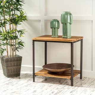 Ronan Wood Rustic Metal End Table by Christopher Knight Home https://ak1.ostkcdn.com/images/products/8785945/P16024441.jpg?impolicy=medium