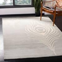Safavieh Handmade Soho Grey/ Ivory New Zealand Wool/ Viscose Rug - 6' Square