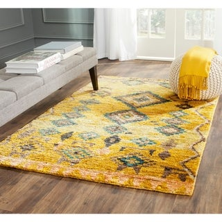 Safavieh Hand-knotted Tangier Black Wool/ Hemp Rug (8' x 10')