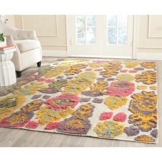 Safavieh Hand-woven Kenya Multicolored Wool Rug (9' x 12')