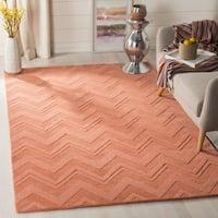 Safavieh Handmade Impressions Rust Wool Rug - 6' x 6' Square