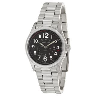 Hamilton Men's 'Khaki' Stainless Steel Military Time Watch|https://ak1.ostkcdn.com/images/products/8786033/P16024515.jpg?impolicy=medium