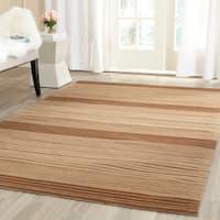Safavieh Hand-woven Marbella Beige/ Brown Wool Rug - 8' x 10'
