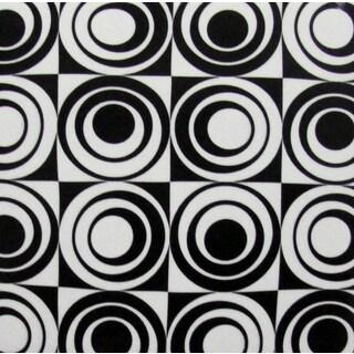 black/ white circle square modern ceramic wall tiles (pack