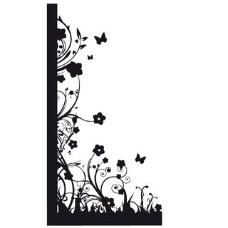 Flowers Vinyl Wall Decal Art