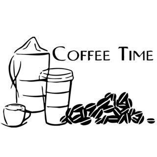 Cup of Coffee Vinyl Wall Decal Art