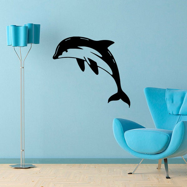 Dolphin Outdoor Wall Decor : Dolphin vinyl wall decal art free shipping on orders