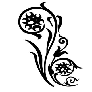 Floral Tattoo Vinyl Wall Decal Art
