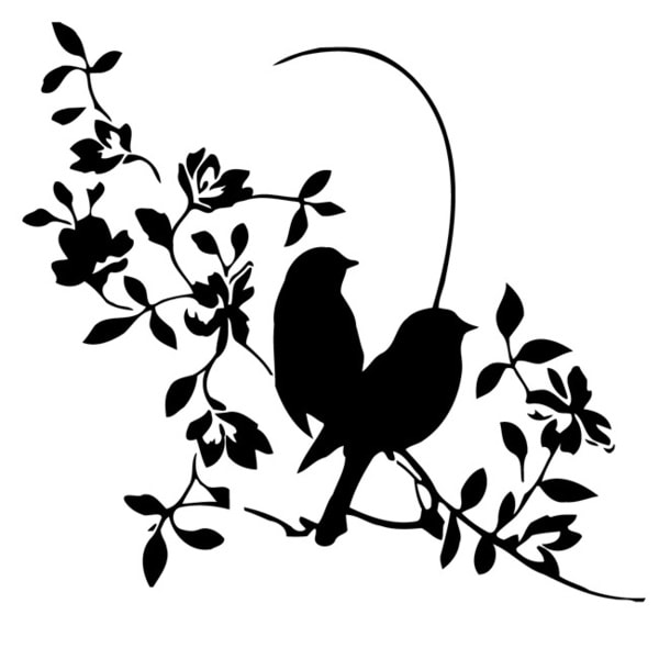 Shop Flora Flowers With Birds Vinyl Wall Decal Art Free
