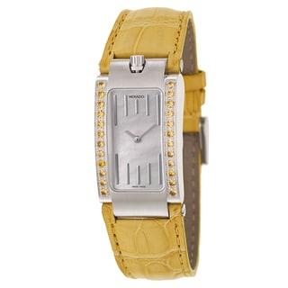 Movado Women's 'Elliptica' Stainless Steel Yellow Strap Swiss Quartz Watch