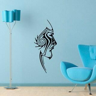 Face Tattoo Vinyl Wall Decal Art