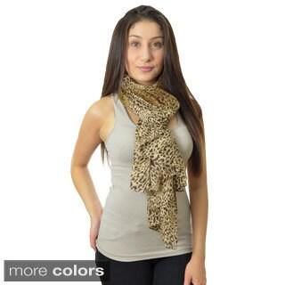 LA77 Animal Print Tie-dye Scarf