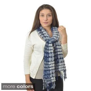 LA77 Two-tone Bubble Knit Scarf