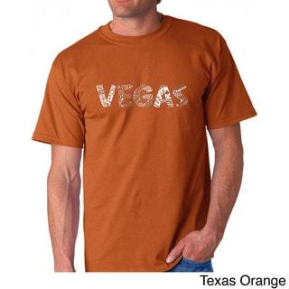 Los Angeles Pop Art Men's 'Las Vegas' T-shirt