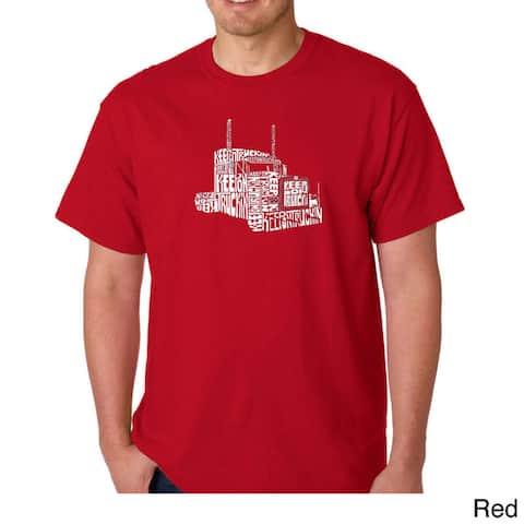 Los Angeles Pop Art Men's 'Keep On Truckin' T-shirt