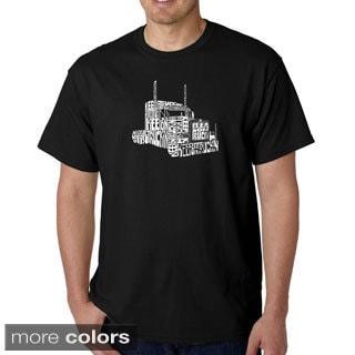 Los Angeles Pop Art Men's 'Keep On Truckin' T-shirt (Option: Orange)