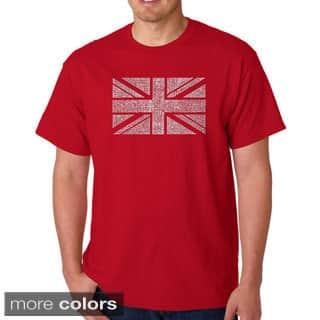 Los Angeles Pop Art Men's 'Union Jack' T-shirt|https://ak1.ostkcdn.com/images/products/8786197/Los-Angeles-Pop-Art-Mens-Union-Jack-T-shirt-P16024624.jpg?impolicy=medium
