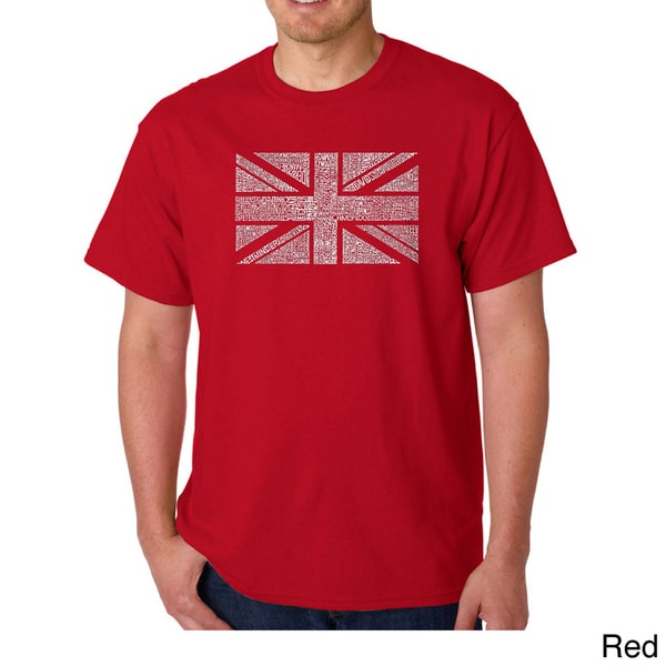 Los Angeles Pop Art Mens Union Jack T-shirt