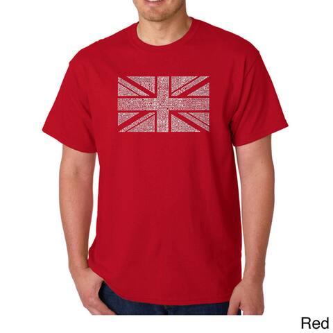 Los Angeles Pop Art Men's 'Union Jack' T-shirt