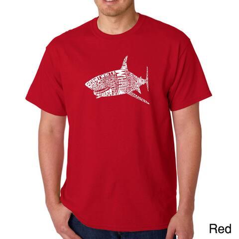 Los Angeles Pop Art Men's 'Shark Names' T-shirt