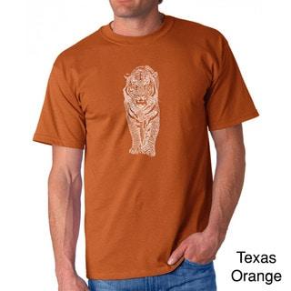 Los Angeles Pop Art Men's 'Endangered Species Tiger' T-shirt