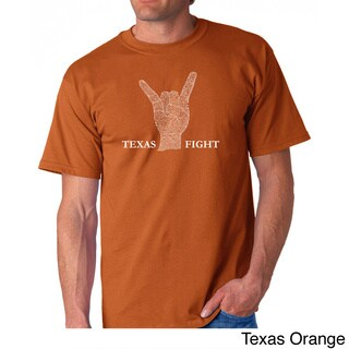 Los Angeles Pop Art Men's 'Texas Fight' T-shirt